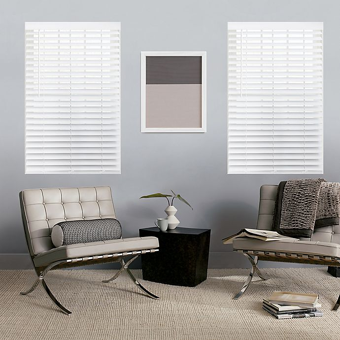 Alternate image 1 for GLOWE   Custom Cordless Classic Wood Blinds