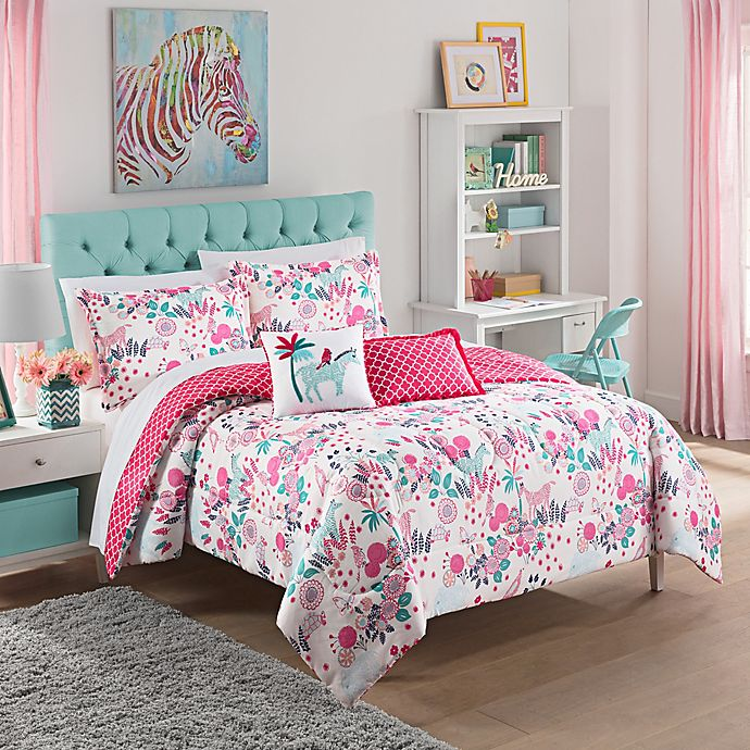Alternate image 1 for Waverly Kids Reverie Full/Queen Reversible Comforter Set in Pink