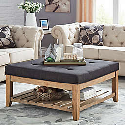 iNSPIRE Q® April Tufted Top Cocktail Table
