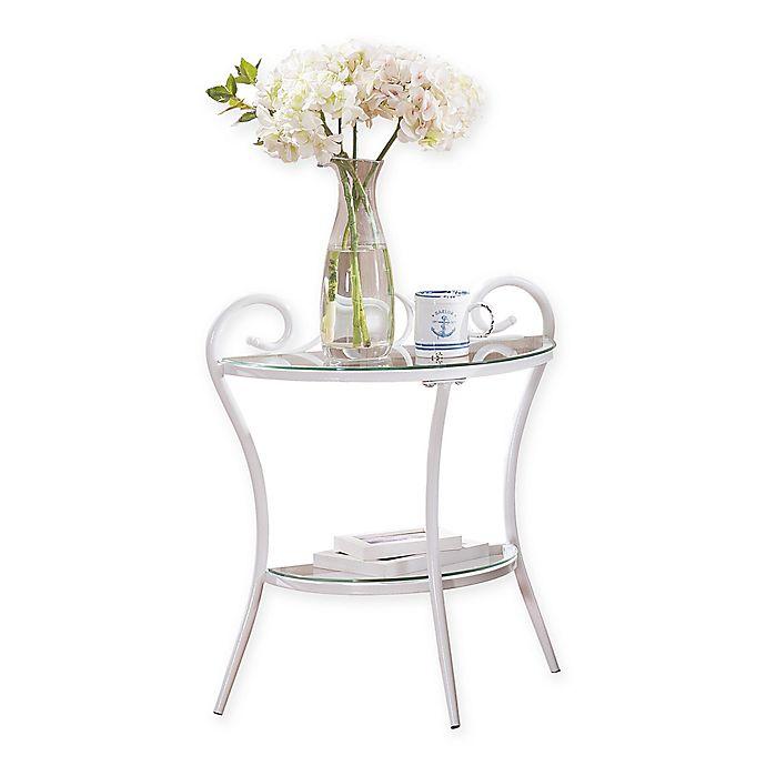 Alternate image 1 for K&B Furniture BD69 Metal Nightstand in White