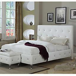 K&B Furniture B5104 Bed Set in White