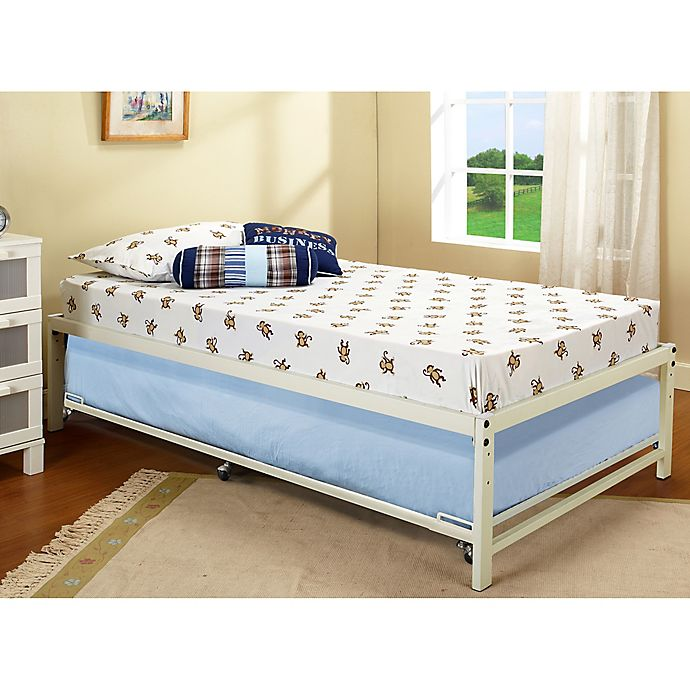 K&B Furniture Hi-Riser Metal Bed with Pop-Up | Bed Bath & Beyond