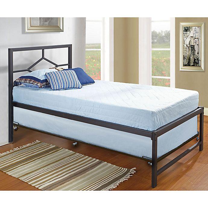K Amp B Furniture Complete Hi Riser Metal Bed With Pop Up