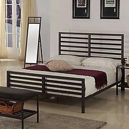 K&B Furniture Metal Headboard in Bronze