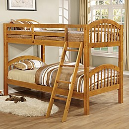 K&B Furniture Arched Twin Bunk Bed