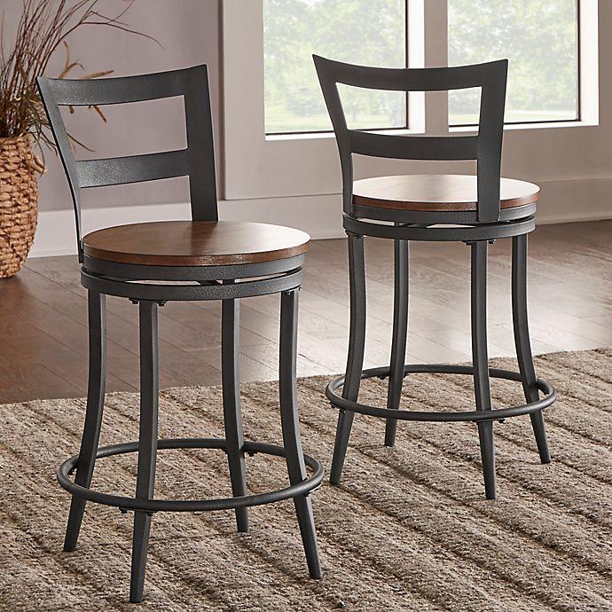 Astounding Verona Home Banfield Swivel Counter Chairs Set Of 2 Bed Creativecarmelina Interior Chair Design Creativecarmelinacom
