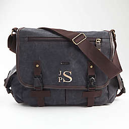Canvas Messenger Bag in Grey
