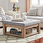 Verona Home Allie Tufted Top Cocktail Table/Ottoman in Grey