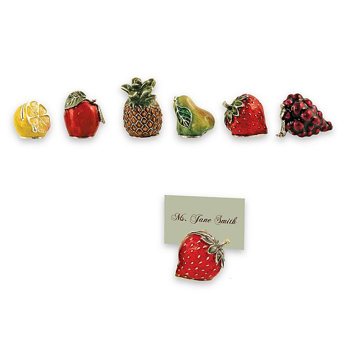 Alternate image 1 for Fruit Place Card Holders (Set of 6)