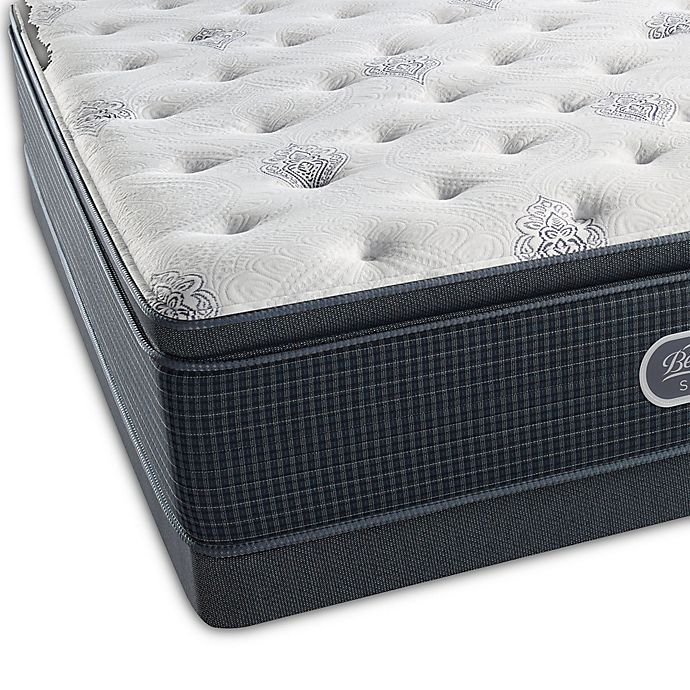 Alternate image 1 for Beautyrest® Silver™ Port Madison Luxury Firm Pillow Top Low Profile Queen Mattress Set