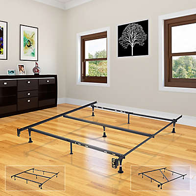 K&B Furniture Twin/Full/Queen Bed Frame with Glides