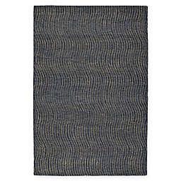 Kaleen Textura Swerv 9' x 12' Area Rug in Blue