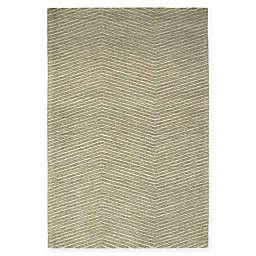 Kaleen Textura Zig Zag 9' x 12' Area Rug in Green