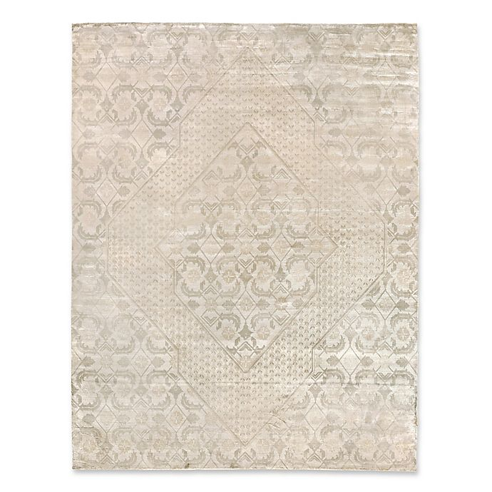 Alternate image 1 for Exquisite Rugs Carrera Diamond 8-Foot x 10-Foot Area Rug in Light Beige/Gold