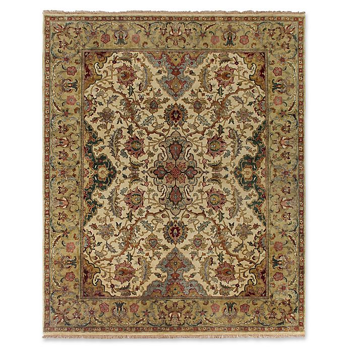 Alternate image 1 for Exquisite Rugs Polonaise 8-Foot x 10-Foot Area Rug in Cream/Spruce