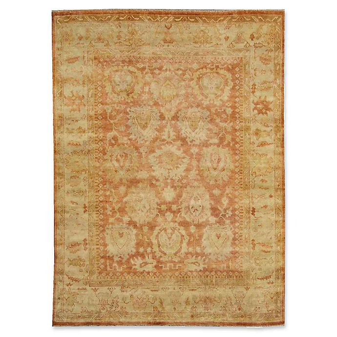 Alternate image 1 for Exquisite Rugs Oushak 8-Foot x 10-Foot Area Rug in Ivory/Rust