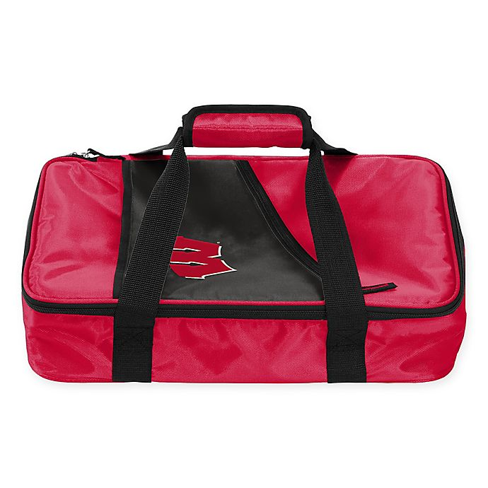 Alternate image 1 for University of Wisconsin Badgers Casserole Caddy in Red