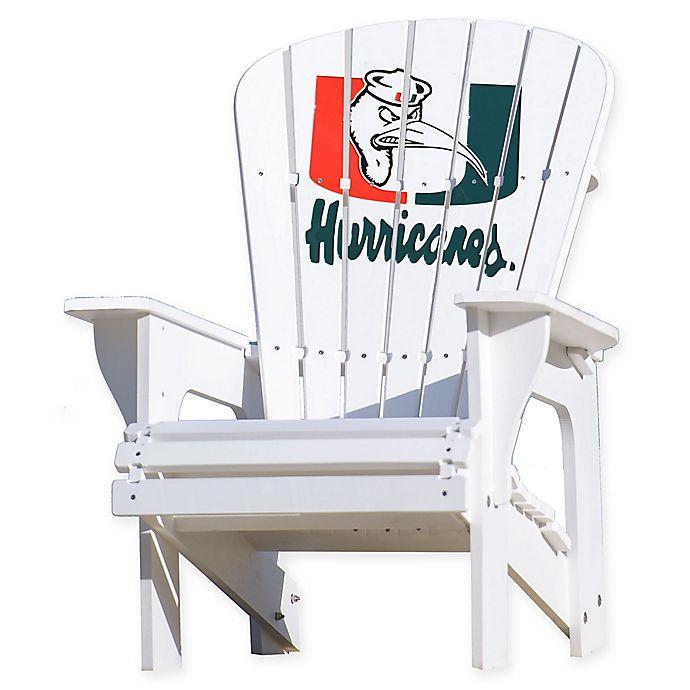 Alternate image 1 for University of Miami Hurricanes Adirondack Chair