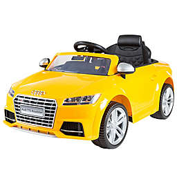 Lil' Rider Audi TTS Roadster 6V Battery-Operated Ride-On Car in Yellow