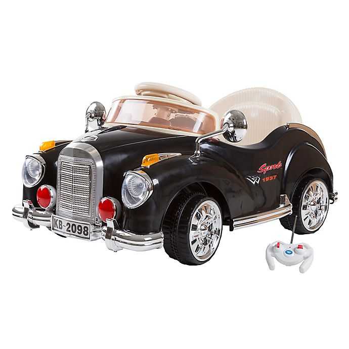 Alternate image 1 for Lil' Rider Classic Car Battery-Operated Ride-On Car in Black with Remote Control