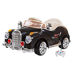 Lil' Rider Classic Car Battery-Operated Ride-On Car in Black with Remote Control