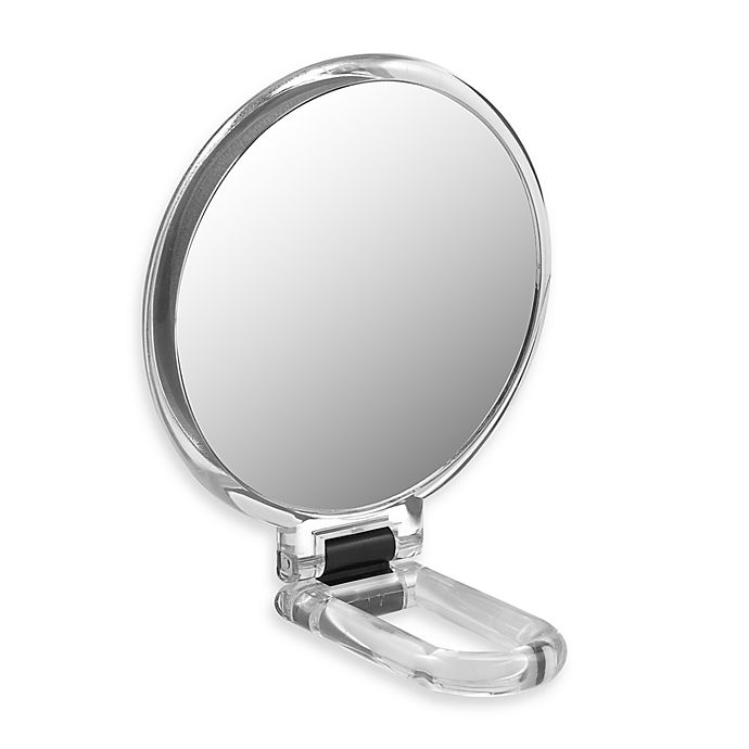Alternate image 1 for Folding Hand Held 10x Magnification Mirror
