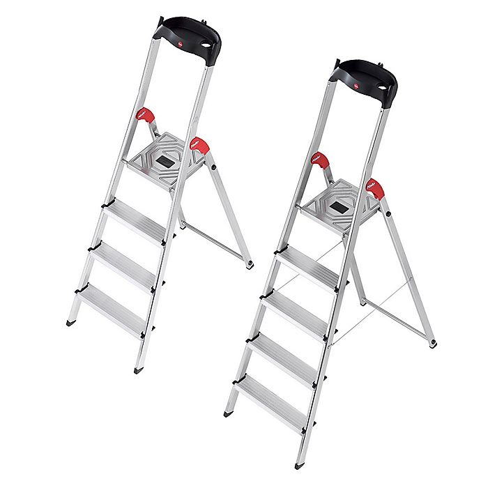 Incredible Hailo L60 Step Ladder In Silver Bed Bath Beyond Ibusinesslaw Wood Chair Design Ideas Ibusinesslaworg
