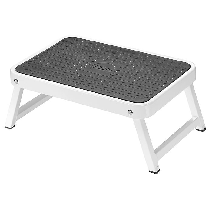 Fine Hailo Folding Step Stool In White Bed Bath Beyond Gmtry Best Dining Table And Chair Ideas Images Gmtryco