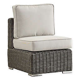 Verona Home Brescia All-Weather Wicker Armless Chair with Cushions