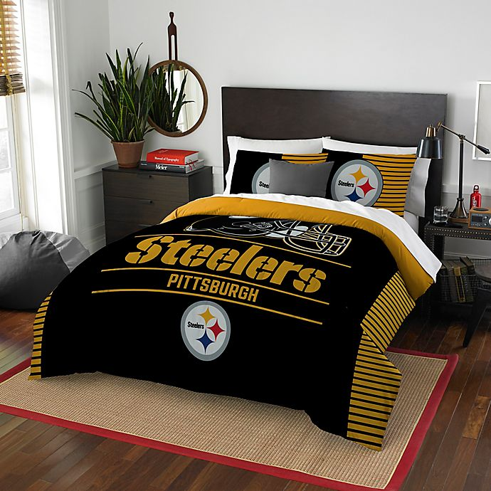 NFL Pittsburgh Steelers Draft Full/Queen Comforter Set ...