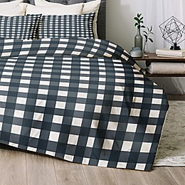 Deny Designs Navy Check 2-Piece Twin/Twin XL Comforter Set in Blue