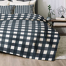 Deny Designs Navy Check Comforter Set