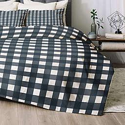 Deny Designs Navy Check Comforter Set