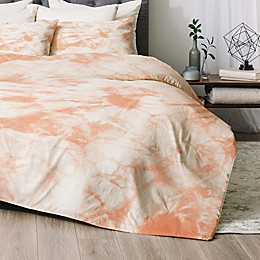Deny Designs Tie Dye 3 2-Piece Twin/Twin XL Comforter Set in Peach