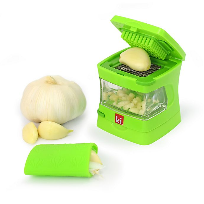 Silicone Garlic Press Holder Kitchen Utility Garlic Non-brake Storage Soft Bag