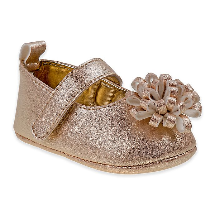 Alternate image 1 for Laura Ashley Mary Jane Shoe with Bow in Rose Gold