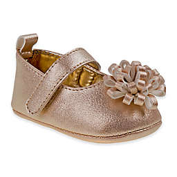 Laura Ashley Size 0-3M Mary Jane Shoe with Bow in Rose Gold