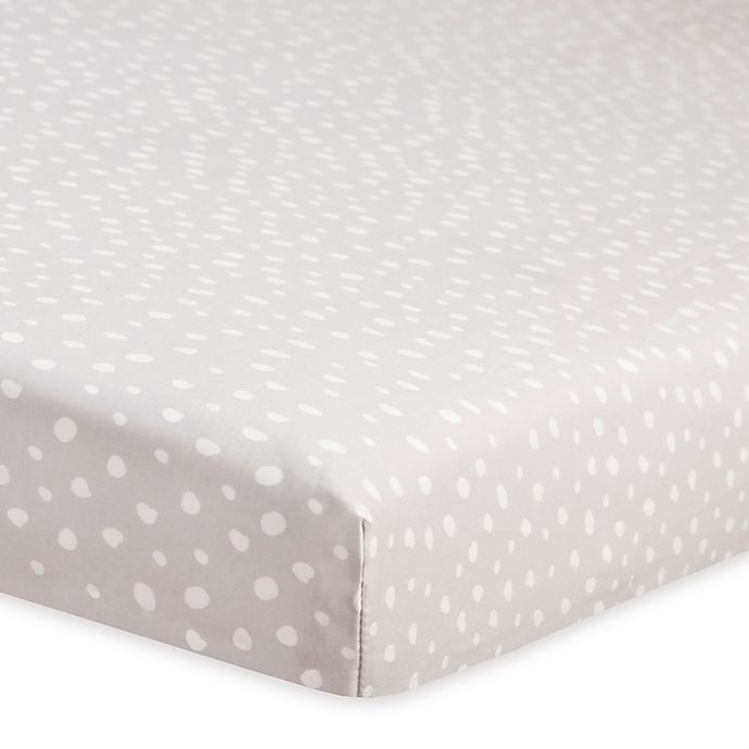 Alternate image 1 for Babyletto Tuxedo Dots Fitted Mini Crib Sheet