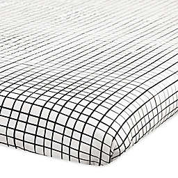 Babyletto Tuxedo Grid Fitted Mini Crib Sheet