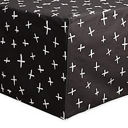 Babyletto Tuxedo Swiss Cross Crib Skirt