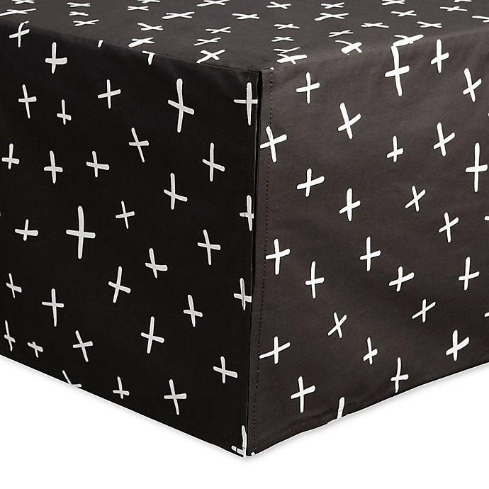 Alternate image 1 for Babyletto Tuxedo Swiss Cross Crib Skirt