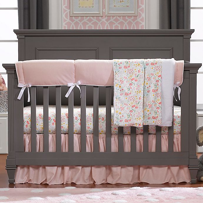 Alternate image 1 for Liz and Roo Petal Pink Linens Crib Bedding Collection