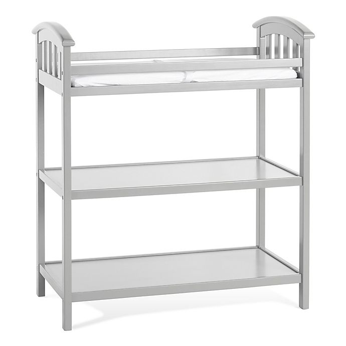 Child Craft Delaney Changing Table In Cool Grey Buybuy Baby