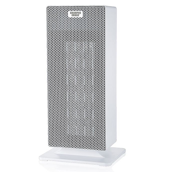 Sharper Image 15 Inch Ceramic Tower Heater In White Bed Bath Beyond