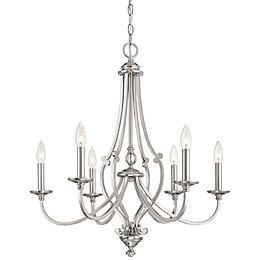 Minka-Lavery® Savannah Row 6-Light Chandelier in Brushed Nickel