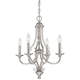 Minka-Lavery® Savannah Row 4-Light Chandelier in Brushed Nickel
