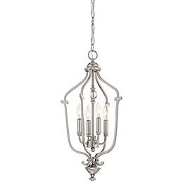 Minka-Lavery® Savannah Row Small 4-Light Chandelier in Brushed Nickel