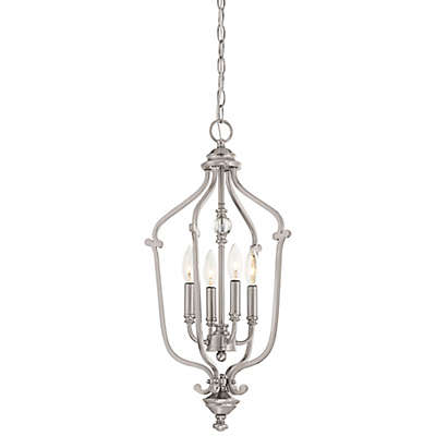 Minka-Lavery® Savannah Row Small 4-Light Chandelier in Brushed Nickel