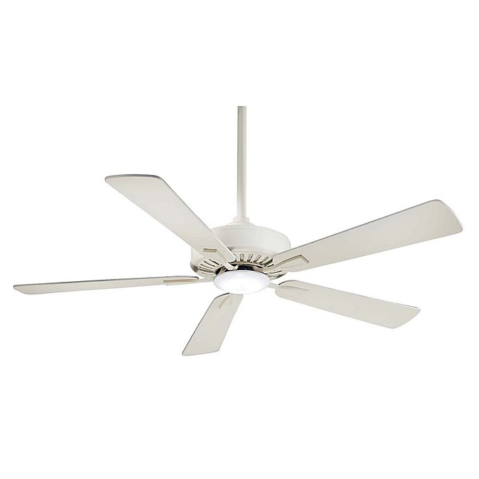 Alternate image 1 for Minka-Aire® Contractor 52-Inch 1-Light Ceiling Fan with Remote Control in Bone White