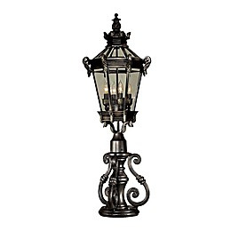 The Great Outdoors® by Minka-Lavery® High Scroll Outdoor Pier Mount in Heritage Dark Brown